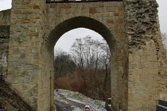 Wejście na teren zamku