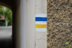 Początkowo żółto-niebieskim