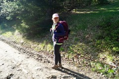 Aneta testuje nowy plecak