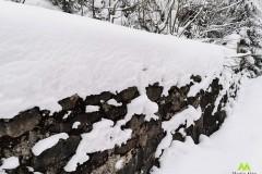 Spora warstwa śniegu