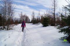 Na grzbiecie sporo śniegu