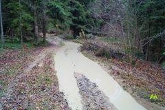 Kolejny zalany odciek na szlaku