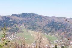 Widok na stok narciarski Klepki