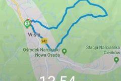 Trasa i czas według Huawei Watch GT